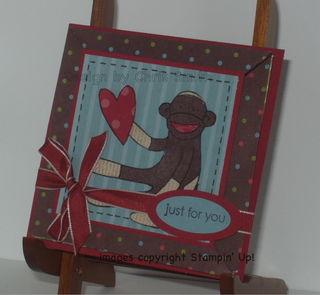 InkpadSock Monkey Valentine