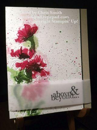 Flower Garden Wet/Dry Embossing by Chris Smith