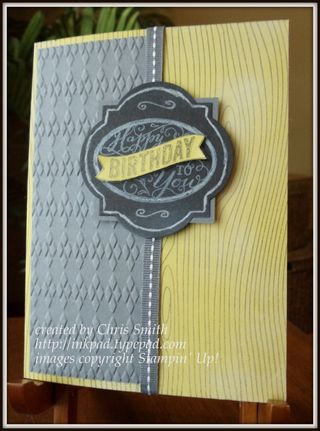 Best of Birthday chalkboard banner card by Chris Smith