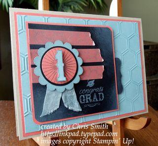 Blue Ribbon Graduation card by Chris Smith