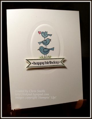 Birthday BIrds by Chris Smith at from my ink pad to yours...