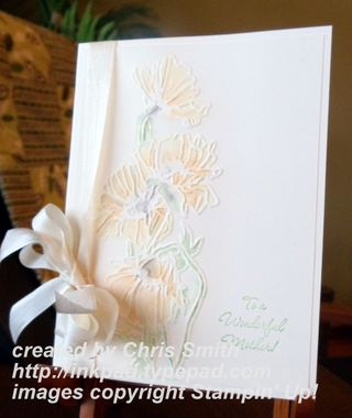 Wet/Dry Embossing with Flower Garden folder