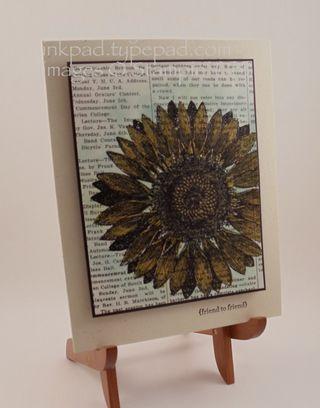 Sunflower on Modern Medley; Chris Smith at inkpad.typepad.com