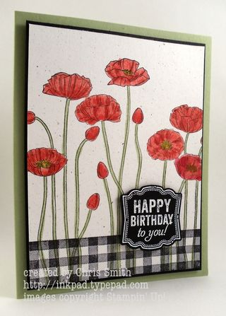 Pleasant Poppies Pop from Gingham: From My Ink Pad to Yours