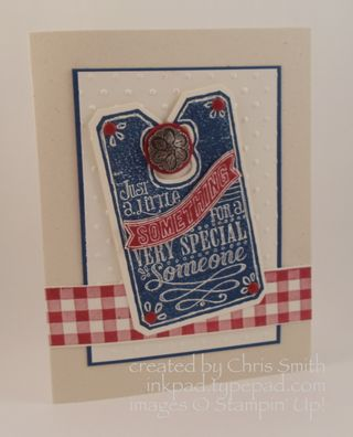 Stampin' Up!'s Chalk Talk with Gingham by Chris Smith at From My Ink Pad to Yours