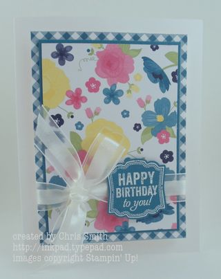 Label Love on Gingham Garden by Chris Smith; Stampin' Up!