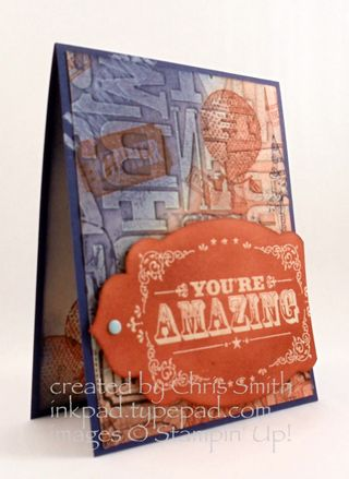 You're Amazing Color Challenge; Chris Smith at inkpad.typepad.com