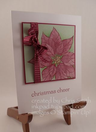 Poinsettia Cheer by Chris Smith at inkpad.typepad.com; with Stampin' Up!
