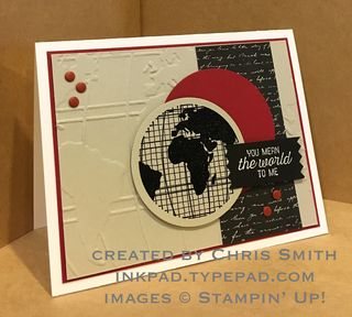 Going Global card by Chris Smith at inkpad.typepad