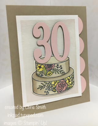 Stampin Up Cake Soiree 30 card by Chris Smith at inkpad.typepad.com