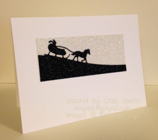 Sleigh Ride on Glimmer card created by Chris Smith at inkpad.typepad.com