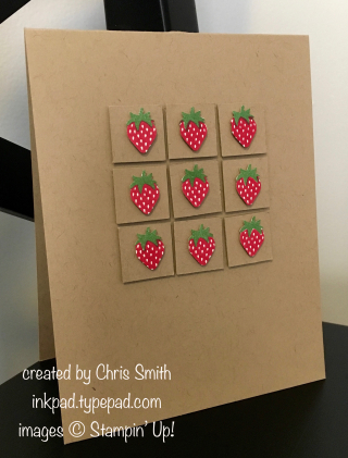 Stampin' Up! Fruit Basket Strawberry Grid card by Chris Smith at inkpad.typepad.com
