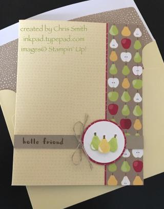 Fruit Basket Delightful Daffodil Tutti-Frutti card by Chris Smith at inkpad.typepad.com