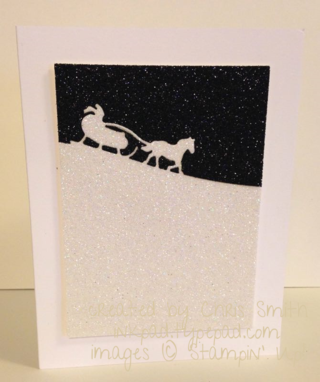 Sleigh Ride Edglit on Glimmer card by Chris Smith at inkpad.typepad.comwith narrow border