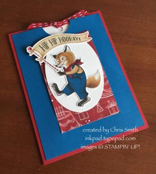 Birthday Friends Fox Closed Slider card by Chris Smith at inkpad.typepad.com