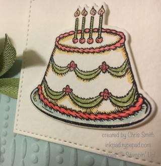 Birthday cake close up by Chris Smith