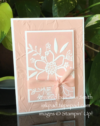 Lovely Floral card by Chris Smith at inkpad.typepad.com