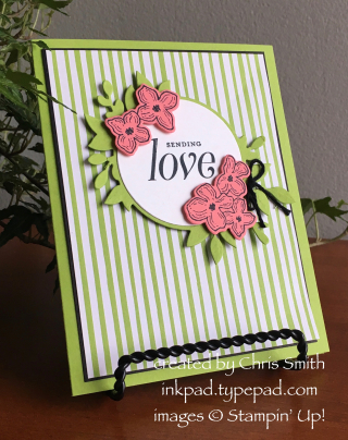 Stampin Up Floral Frames with Granny Apple by Chris Smith