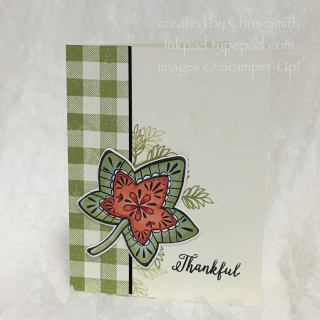 Stampin Up Falling for Leaves thankful card by Chris Smith at inkpad.typepad.com