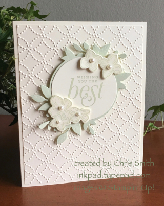 Stampin Up Floral Frames Soft Foam Card by Chris Smith at inkpad.typepad.com