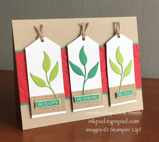 Stampin Up Rooted in Nature with Foliage Frame Framelits by Chris Smith