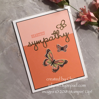 Well Written Sympathy card by Chris Smith at inkpad.typepad.com