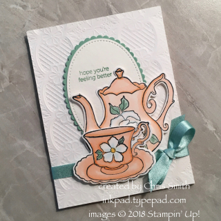 Tea Together card on Lace by Chris Smith at inkpad.typepad.com