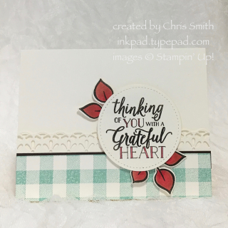 Stampin up Falling for Leaves with check and Cherry card