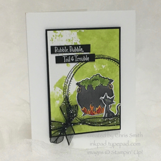 Cauldron Bubble Swirly Frames card by Chris Smith