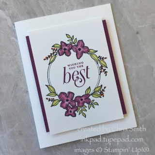 Floral frames blackberry bliss razzle card by Chris Smith