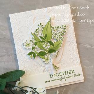 Wonderful Romance card in Granny Apple Green by Chris Smith at inkpad.typepad.com