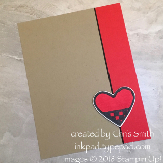 #simplestamping checked heart Valentine with Nothing Sweeter by Chris Smith at inkpad.typepad.com