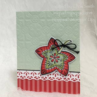 Stampin' Up Falling for Leaves Poppy stripes by Chris Smith at inkpad.typepad.com
