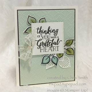 Stampin' Up Falling for Leaves Blue Greens by Chris Smith at inkpad.typepad.com