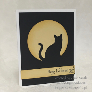 Cauldron Bubble cat card by Chris Smith