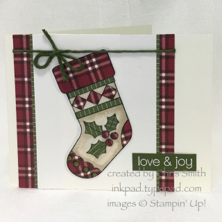 Stampin Up Great Joy stocking card by Chris Smith at inkpad.typepad.com