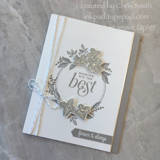 A Silver floral frames card by Chris Smith