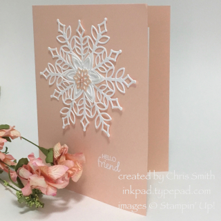 Happiness Surrounds Petal Pink card by Chris Smith
