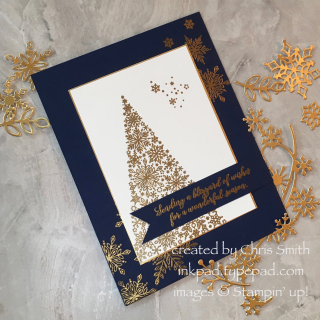 Snow is Glistening with die cuts card by Chris Smith at inkpad.typepad.com