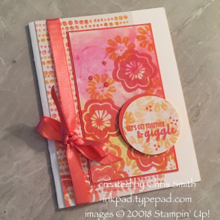 Bllom by Bloom card Blends and Baby Wipe card by Chris Smith