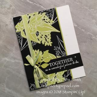Wonderful Romance Lime on Black card by Chris Smith at inkpad.typepad.com