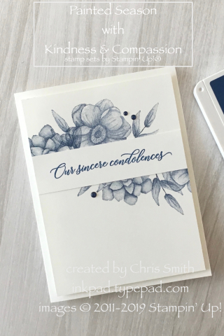 Stampin' Up!® Painted Seasons with Kindness and Compassion stamps card by Chris Smith at inkpad.typepad.com