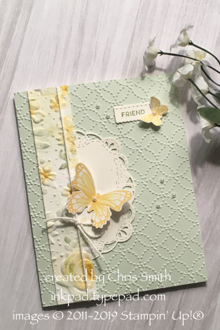 Stampin' Up!®'s Stitched All Around Bundle with Butterfly Gala with Country Floral and Quilt Top folders
