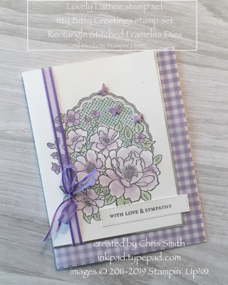 Stampin' Up!'s Lovely Lattice Highland Heather card by Chris Smith at inkpad.typepad.com