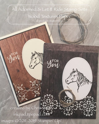Stampin' Up!'s Let It Ride All Adorned duo by Chris Smith at inkpad.typepad.com