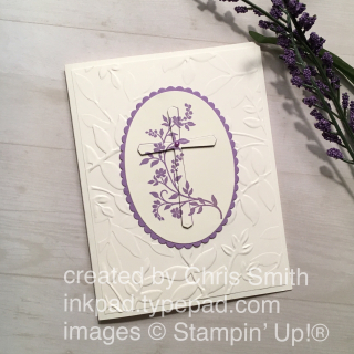 Stampin Up! Hold on to Hope in Highland Heather with Layered Leaves by Chris Smith; more at inkpad.typepad.com