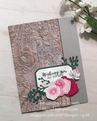 Stampin Up First Frost bundle with Wood Textures and Country Floral at inkpad.typepad.com