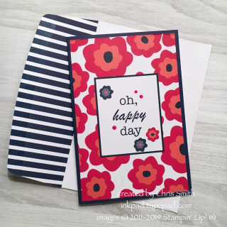 Stampin Up Happiness Blooms Memories & More pack and cards at inkpad.typepad.com