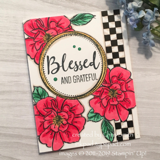 CC740 To A Wild Rose with Swirly Frames for Splitcoaststampers Color Challenge