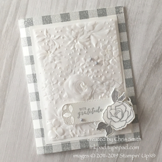 Stampin' Up!® Country Floral meets Buffalo Check card by Chris Smith at inkpad.typepad.com